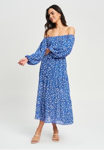 Tussah blue Loni Midi Dress A9398AAD206EE3GS_1