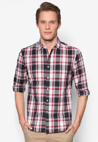 格紋修esprit台北門市身長袖襯衫, 服飾, 襯衫