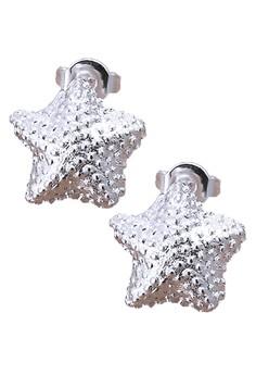 Nicole Star Silver-Plated Stud Earrings