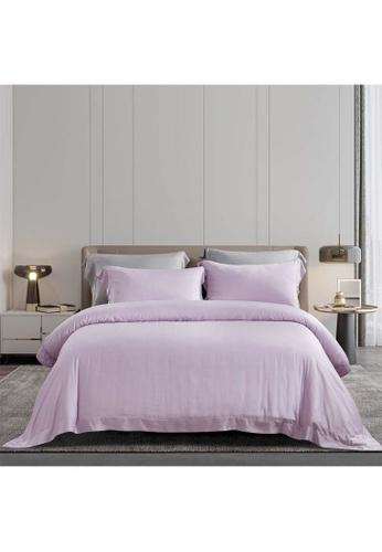 Epitex lilac purple Epitex XH5814 Tencel 1000TC Printed Bedsheet - Bedset - Bedding Set (w quilt cover) - Orchid Ice C95C1HL2107149GS_1