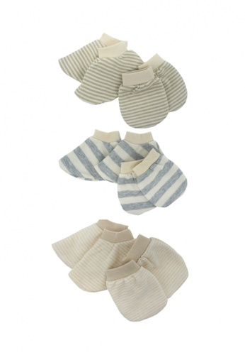 TRENDYVALLEY Trendyvalley Organic Cotton Baby Mitten & Booties (3 pair) 0B784KC1415E38GS_1
