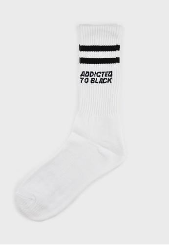 Hi Style white Men Mid Calf Length Socks 9A6F0AA528C85BGS_1