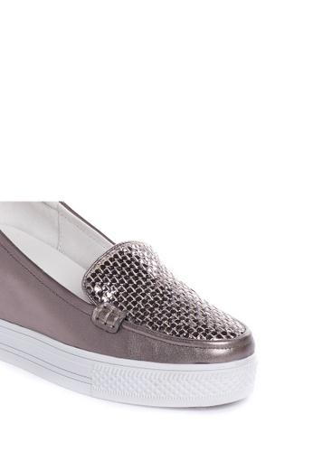 Metallic Wedge Sneakers