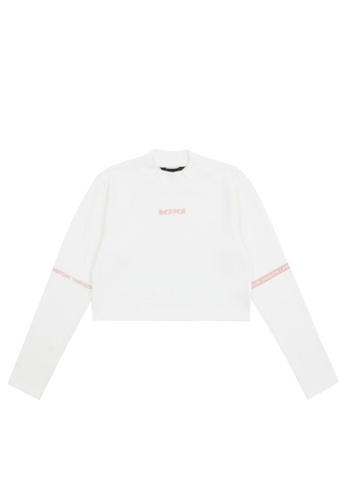 MUSIUM DIV white Letter printed T-shirt 68DD4AAE94F003GS_1