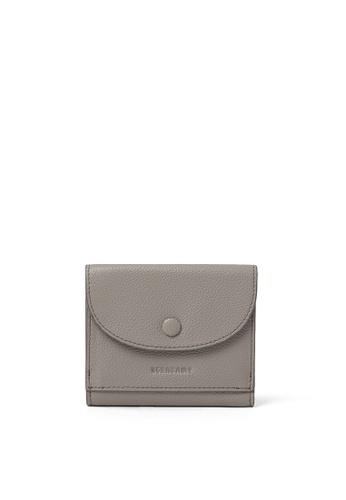 BERACAMY grey BERACAMY Tri-fold Compact Wallet - Light Grey A473CAC8419401GS_1