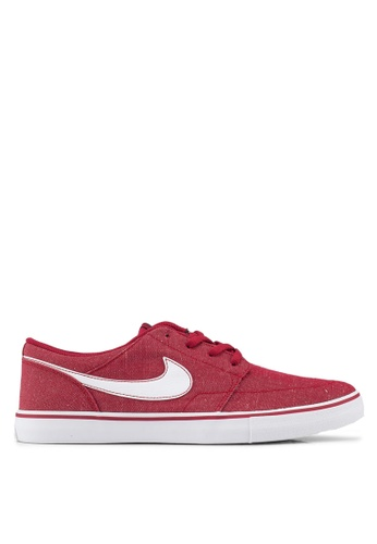 Nike red Men's Nike Sb Solarsoft Portmore Ii Canvas Premium Skateboarding Shoes 6F8D5SH119462EGS_1