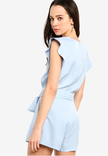 9d5ba9818dbc Shop Something Borrowed Buttoned Down Romper With Sash Online on ZALORA  Philippines