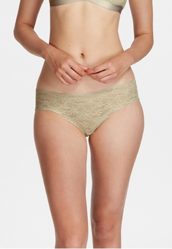 6IXTY8IGHT green PLUM SOLID, Clean Cut Lace Hipster Panty PT10428 64A8CUS2CCF13BGS_1