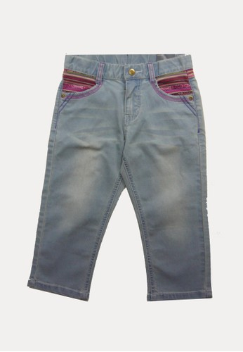 Bossini navy Bossini Kids Girl Long Pants Lt Indigo (64421510051) D3B16KA786D20DGS_1