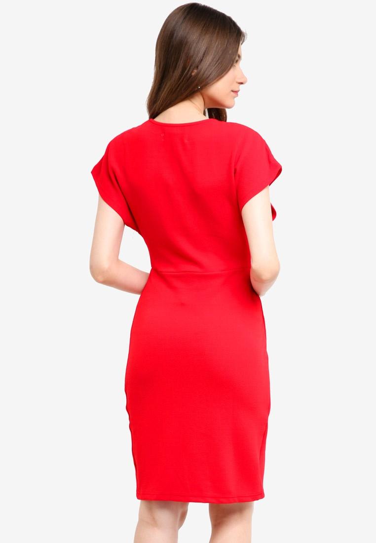 Red Wrap Dress Mela Front London rxznzIqgwY