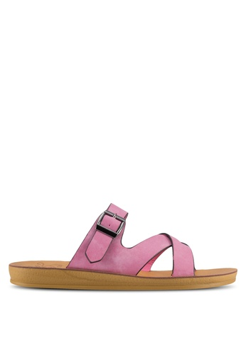 Noveni pink Strappy Slip On Sandals NO978SH61VUCMY_1
