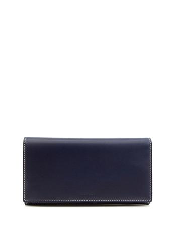 Enjoybag navy Kobe Cow Leather Long Wallet A4DF7ACC9BCA95GS_1