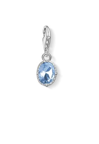 """THOMAS SABO blue Charm pendant """"blue stone 29B12ACB662404GS_1"""