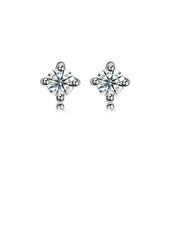Glamorousky white 925 Sterling Silver Stud Earrings with Cubic Zircon 19BF1AC5A25913GS_1