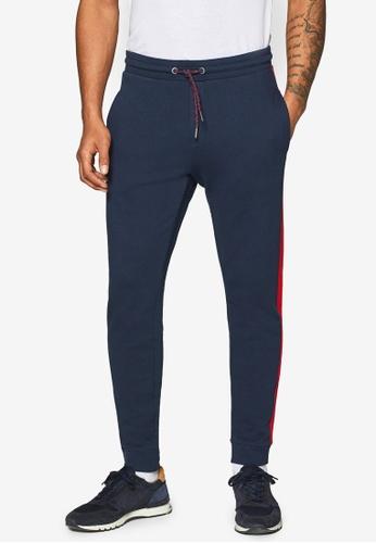 ESPRIT 海軍藍色 抽繩針織褲 A0CD0AA678FC67GS_1