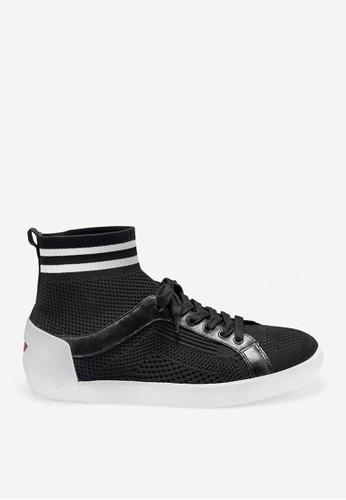 ASH 黑色 Nitendo - 黑色網孔編織運動鞋 2F67ASH4865D4EGS_1