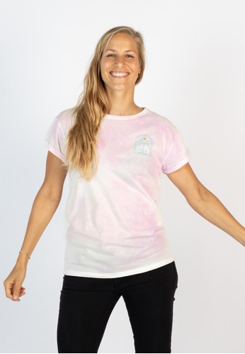Zealous white and red Zealous Zenith T-Shirt rose tie dye CCE75AA2712D0CGS_1
