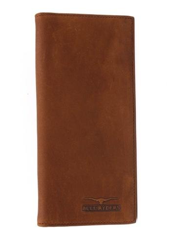 midzone brown Genuine Leather Bifold Long Wallet MI949AC14EFHMY_1