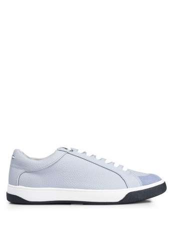 TOPSHOP 藍色 Chilli Lace Up Trainers E1D4DSH60C8426GS_1