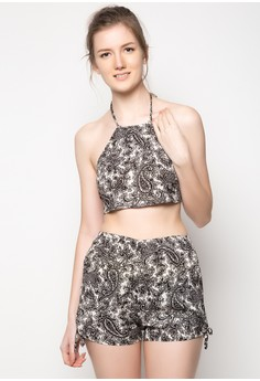 Paisley You And Me Cropped Top & Shorts
