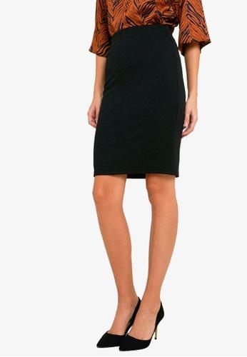 FORCAST black Joslyn Textured Pencil Skirt 498F2AA9EF8DFFGS_1