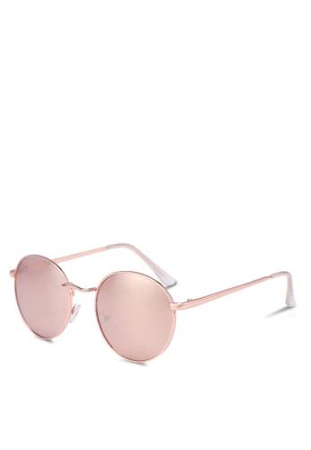 Rubi pink Emmi Metal Sunglasses 477ECGLE510F5EGS_1