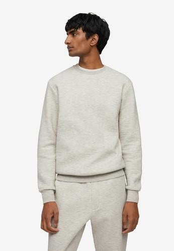 MANGO Man grey Cotton Pyjama Sweatshirt 365D4AA7C762D0GS_1
