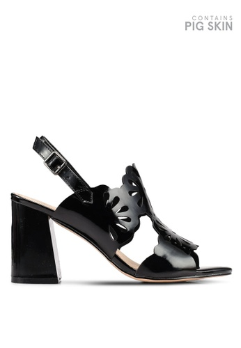 BETSY black Ariana Laser Cut Sandal Heels 65F62SH4892BE9GS_1