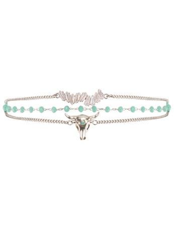 HIPANEMA blue and multi and silver Medium multi chain beaded bracelet Cliff silver 3FA37ACE7C78D0GS_1