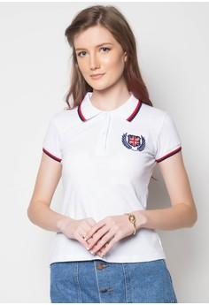 Newyork Army Ladies Plain Polo Shirt with Stripes Collar