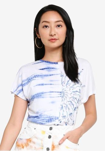 Desigual white Multi Printed T-shirt 3BA17AA6947F36GS_1