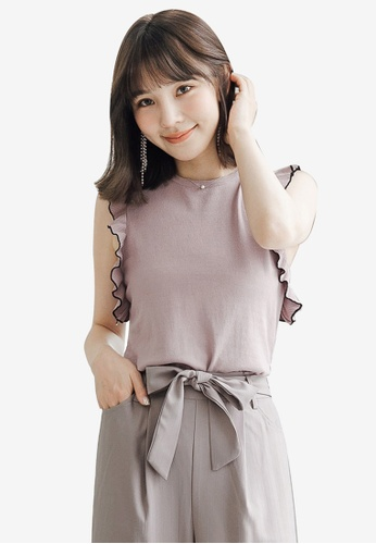 Tokichoi pink Wide Sleeve Knit Top ABA00AA0CB7116GS_1