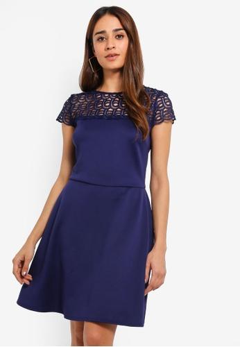 f79cfede51c8 Buy Dorothy Perkins Navy Lace Top Skater Dress Online on ZALORA ...