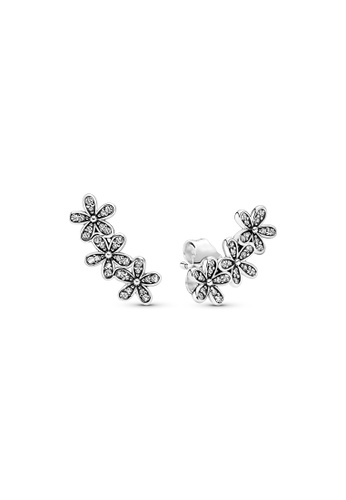 PANDORA silver Pandora Daisy Flower Stud Earrings 75911AC099B611GS_1