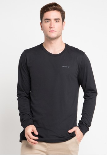 hurley black Dri-Fit Staple Long Sleeve T-Shirt 3FF70AAC0B4850GS_1