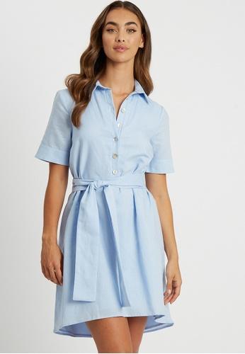 Willa blue Lebain Mini Dress 3EBE4AA9817310GS_1