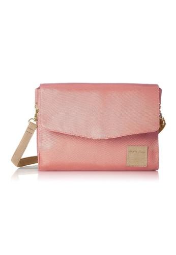 Anello pink [Legato Largo] Simple Nylon Water-Repellent Shoulder Bag-LT-F1132 PINK BEIGE A1EA6AC53A63C5GS_1