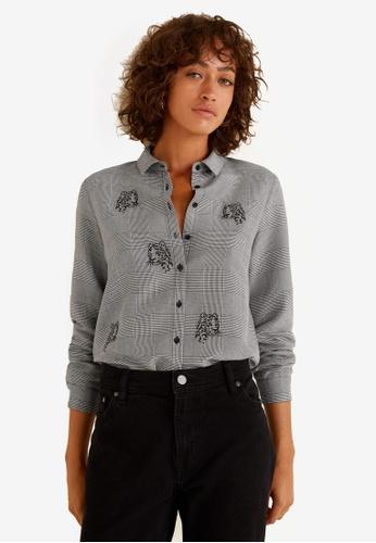 Mango black Embroidered Detail Shirt 46B8EAA346AC63GS_1