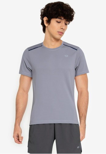 Equipe grey Tech Dry Basic Tee with Heat Transfer Combi on Shoulder 4200FAAB8536DDGS_1