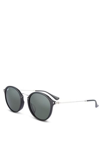 Ray-Ban black Round Fleck RB2447F Sunglasses RA896GL57ULQMY_1