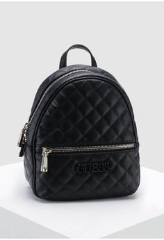 cdf4029f7691 Guess black Elliana Backpack D6415ACA9DDD33GS 1