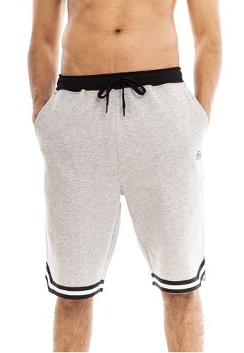 RYZ grey RYZ Basketball Bonded Sweat Grey Shorts. C2C5FAAE4838D5GS_1
