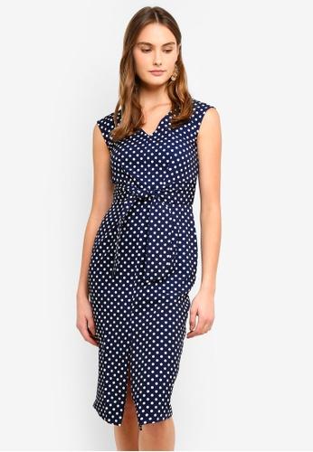 CLOSET navy Tie Front Dress E54E0AA7CEF2CCGS_1
