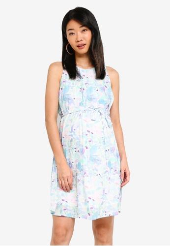 Spring Maternity 多色 孕婦裝 花卉洋裝 9D704AA1FCB7E4GS_1