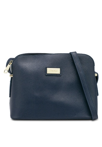 Mel&Co navy Faux Leather Sling Bag 4B7FBAC2C2EEE8GS_1