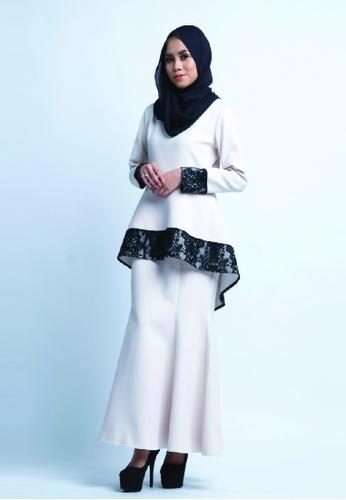 Khalifah by N black and white and multi Cream One Piece Dress B5AAAAA92798E5GS_1