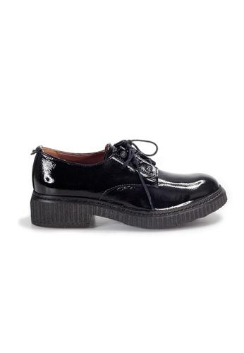Shu Talk 黑色 LeccaLecca 英倫綁帶舒服漆皮牛津鞋 929A5SHE0E01CBGS_1
