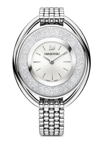 Swarovski silver Crystalline Oval Watch 32E21AC00E0605GS_1