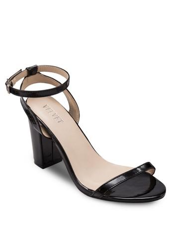 Danzalora 順豐a 經典踝帶粗高跟鞋, 女鞋, 細帶高跟鞋