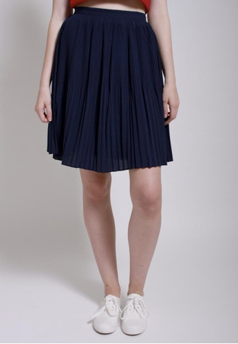 QLOTHE blue Rapture: Bonny Pleated Skirt AB289AAACCC6C5GS_1